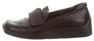 pradaPrada Leather Square-Toe Loafers