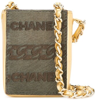 Chanel Pre-Owned 2000-2002 CC logo mini necklace chain bag