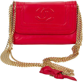 One Kings Lane Vintage Chanel Red Multi-Chain Evening Bag - Vintage Lux