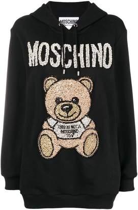 Moschino teddy bear embellished hoodie