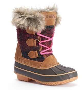 Totes Luann Girls' Water-Resistant Winter Duck Boots $79.99 thestylecure.com