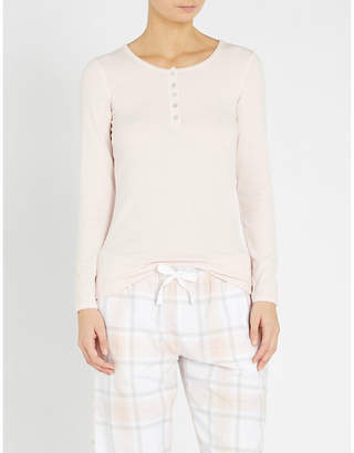 The White Company Ribbed stretch-jersey henley pyjama top