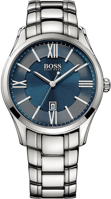 HUGO BOSS 1513034 Ambassador stainless steel watch $210 thestylecure.com