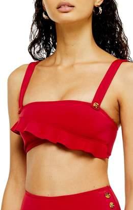 Topshop Ruffle Bikini Top