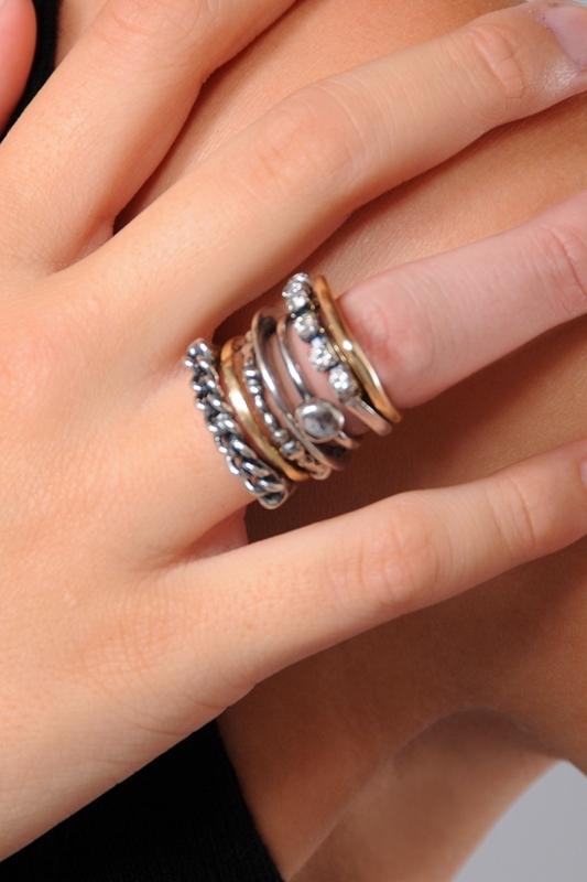 Iosselliani Stacked Rings Set 4