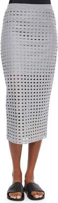 Alexander Wang Netted Long Fitted Jersey Skirt