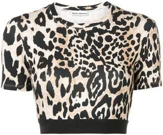 Paco Rabanne leopard print crop top