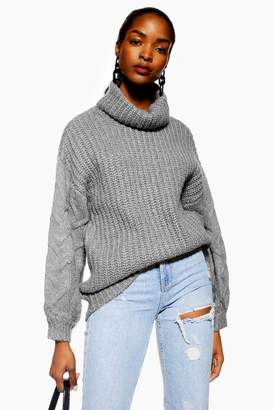 NATIVE YOUTH Cable Knit Jumper