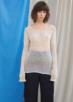 Acne Studios Stripe Mohair Scoop Neck Sweater