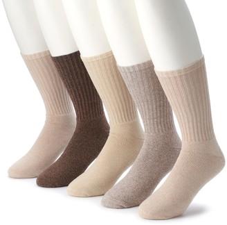 Croft & Barrow Men's & Big & Tall 5-pack Opticool Solid Crew Socks