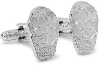 Alexander McQueen Skull Silver-Tone Cufflinks - Men - Silver
