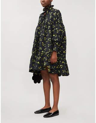 CECILIE BAHNSEN Macy floral-pattern woven mini dress