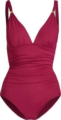 Ralph Lauren Slimming Ruched Swimsuit