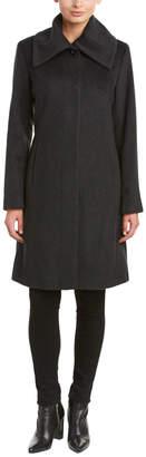 Cole Haan Wool-Blend Coat