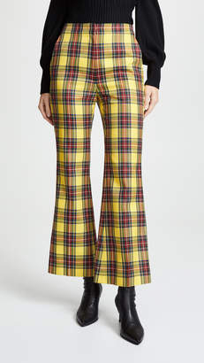 pushBUTTON Plaid Crop Flare Pants