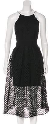 Nicholas Eyelet Knit Midi Dress Black Eyelet Knit Midi Dress