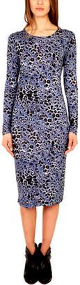 Derek Lam 10 Crosby Peri Printed Long Sleeve Dress