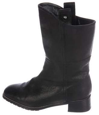 Stuart Weitzman Leather Mid-Calf Boots