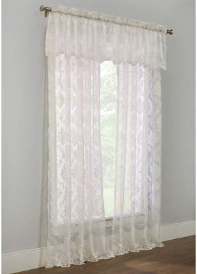 Lark Manor Calie Damask Semi-Sheer Rod Pocket Single Curtain Panel