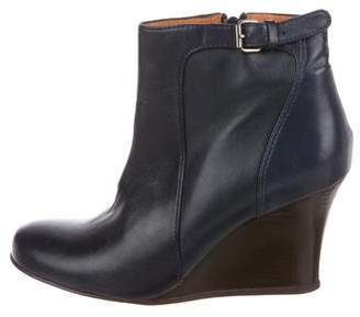 Lanvin Leather Wedge Boots