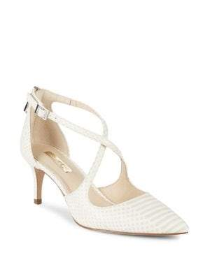 Louise et Cie Jena Snake Print Leather Pumps