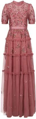 Needle & Thread Carnation Tiered Sequin Gown