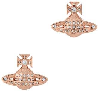 Vivienne Westwood Minnie Rose Gold-tone Earrings