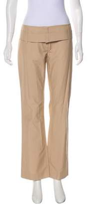 Prada Low-Rise Wide-Leg Pants Beige Low-Rise Wide-Leg Pants