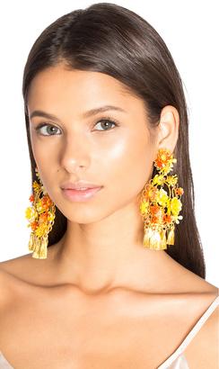 Mercedes Salazar Floral Tassel Earring $187 thestylecure.com
