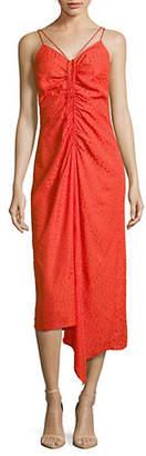 Topshop Star Jacquare Midi Dress