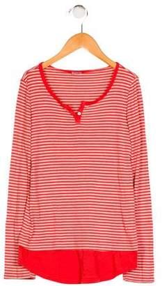 Splendid Girls' Striped Long Sleeve Top