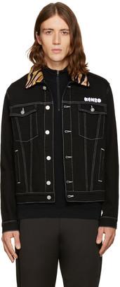 Kenzo Black Denim Jacket $485 thestylecure.com