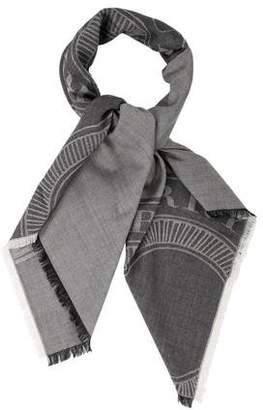 Burberry Wool Logo Scarf w/ Tags