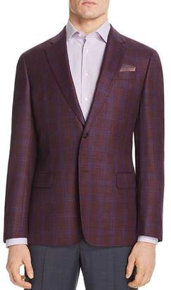 Giorgio Armani Checked Regular Fit Tailored Jacket