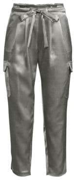 Ramy Brook Allyn Satin Cargo Pants