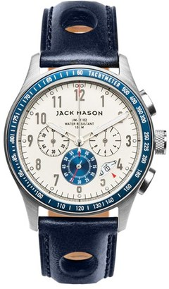 Men's Jack Mason Chronograph Leather Strap Watch, 42Mm $285 thestylecure.com
