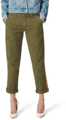Joe's Jeans Elevated - The Trouser Velvet Side Stripe Ankle Cargo Pants