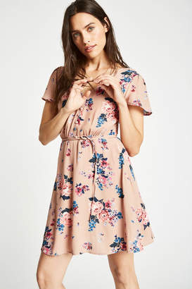 Jack Wills Perwent Soft Printed Tea Dress