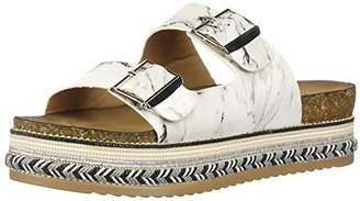 Qupid Women's Wedge Sandal