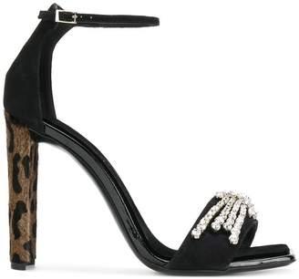 Giuseppe Zanotti Design Sabine leopard heel sandals