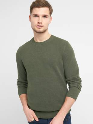 Gap Textured Crewneck Pullover Sweater