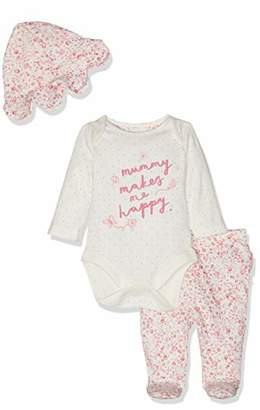 Mothercare Baby Girls' Mummy and Daddy 3-Piece Set Bodysuit, (Pink 130), (Size:86CM)
