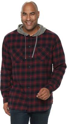 UNIONBAY Big & Tall  Switchback Flannel Hooded Button-Down Shirt