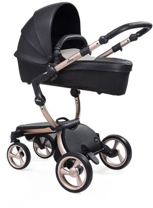 Infant Mima Xari Rose Goldtone Chassis Stroller With Reversible Reclining Seat & Carrycot $1,519 thestylecure.com