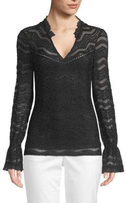 Laundry by Shelli Segal Novelty Lace V-Neck Top