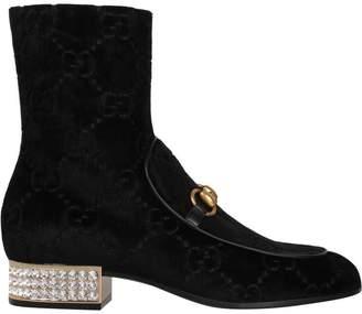 Gucci Gg Velvet Boot