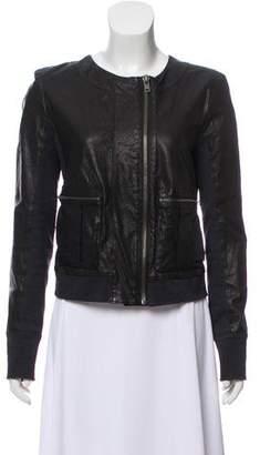 A.L.C. Leather Long Sleeve Jacket