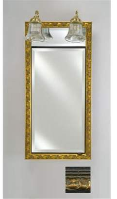 Afina Corporation SD-LT2030RTUSGD 20 in.x 30 in.Recessed Single Door Cabinet with Traditional Lights - Tuscany Gold