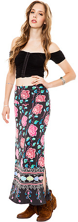Free People The Drippy Knit Column Skirt