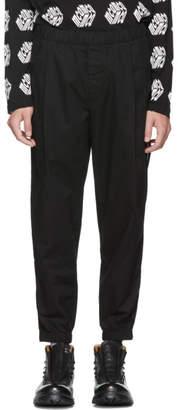 McQ Black Chino Track Trousers